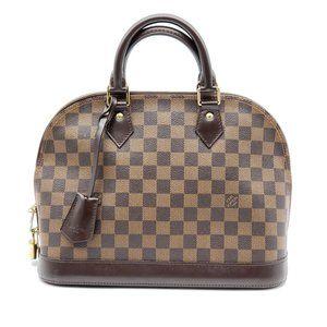 Louis Vuitton Alma PM Damier Ebene Hand Bag